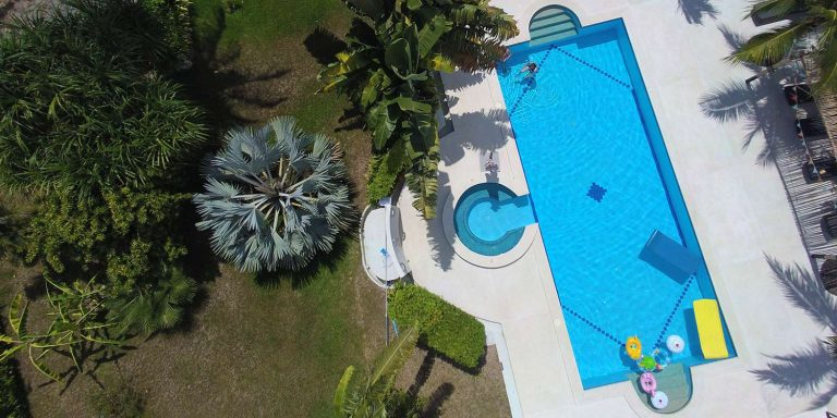 Drone view from Kho Samui pilates retreat environment